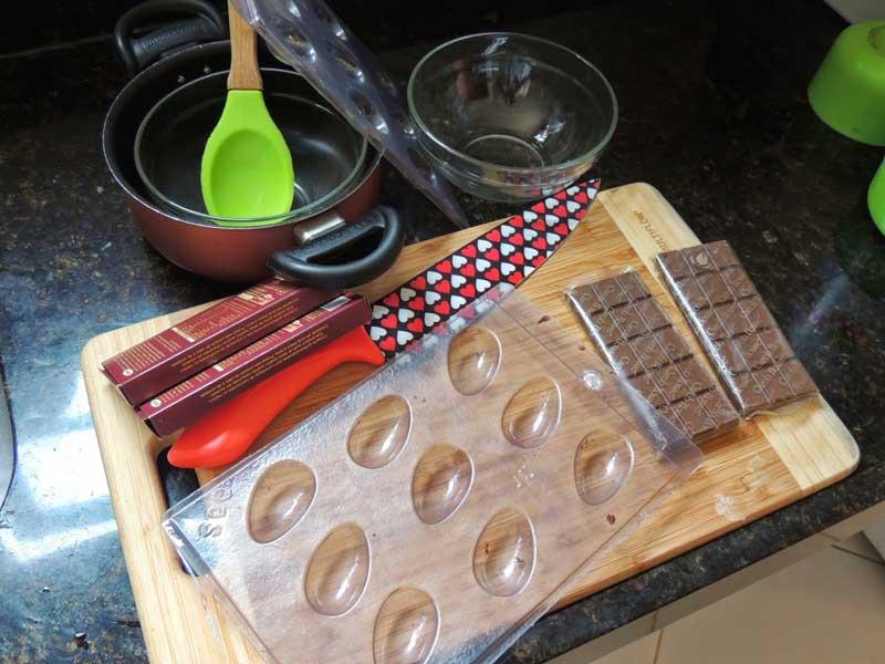 Materiais utilizados para fazer ovo de páscoa